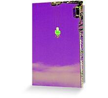 Crane Purp Greeting Card