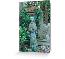 Angels dwell in the garden... Greeting Card