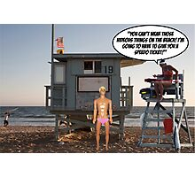 Speedo's Are A No No! Photographic Print