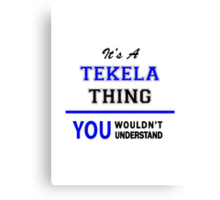 It's a TEKELA thing, you wouldn't understand !! Canvas Print