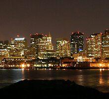 Boston at Night, Panoramic by Gothman