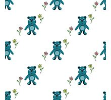 seamless pattern with children's teddy bears, illustration for children Photographic Print
