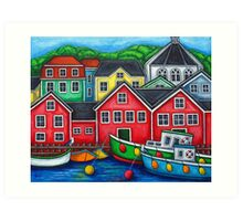 Colours of Lunenburg, Nova Scotia Art Print