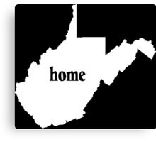 West Virginia Home Tshirts - Custom Made Canvas Print