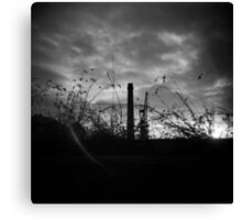 Sunsets in B&W Canvas Print
