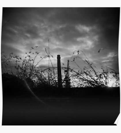Sunsets in B&W Poster