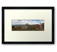 Argyle Diamond Mine from East Ridge, Jan 2009 Framed Print