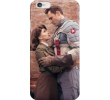 Tanya Wheelock as Peggy Carter and Michael Mulligan as Captain America (Photography by Sean William / Dragon Ink Photography) iPhone Case/Skin
