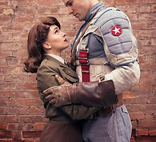 Tanya Wheelock as Peggy Carter and Michael Mulligan as Captain America (4.1 - Photography by Sean William / Dragon Ink Photography) by mostdecentthing