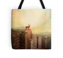 Deer at Dawn Tote Bag