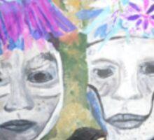 Tribal  2 face Sticker