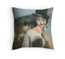 Portrait 11 with Hat Throw Pillow