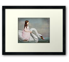 Ride a White Swan Framed Print