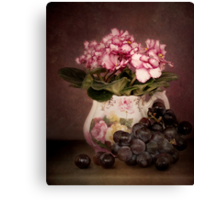 Violets And Grapes Canvas Print