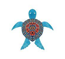 The Blue Tribal Sea Turtle by haidishabrina
