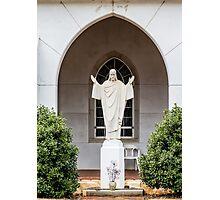Statue of Jesus Photographic Print