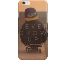 Never Grow Up iPhone Case/Skin
