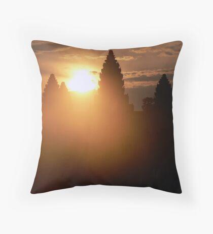 Dawn at Angkor Wat Throw Pillow