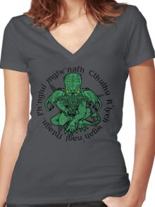 Call fo Cthulhu Women's Fitted V-Neck T-Shirt
