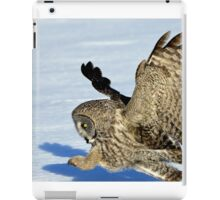 Great Grey Hunting Sequence 4 iPad Case/Skin