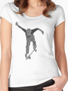 skateboard abstract Women's Fitted Scoop T-Shirt