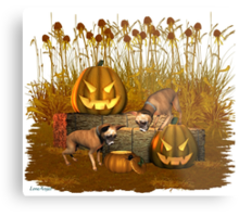 October Puppy .. a halloween tale Metal Print