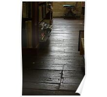 The Old Wood Floor In The Old Book Store (color) Poster