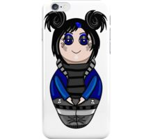 The isolated nested doll the goth drawn by hand.Cute gothic girl. iPhone Case/Skin