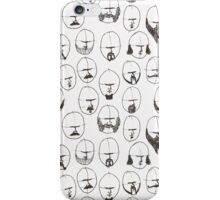 Moustaches and Beards iPhone Case/Skin