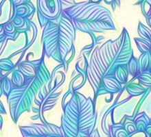 Lilac, Mint & Aqua Art Nouveau Pattern Sticker