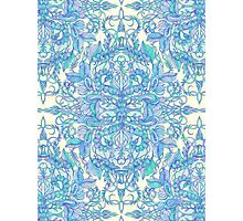 Lilac, Mint & Aqua Art Nouveau Pattern Photographic Print