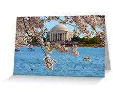 Cherry Blossoms at the Jefferson Greeting Card