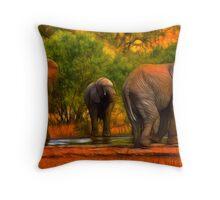 Kruger Elephants Throw Pillow