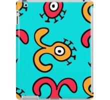 seamless pattern with cute aliens. Cute kids doodle sketch. iPad Case/Skin