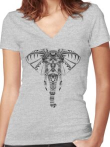 Mystic Elephant Women's Fitted V-Neck T-Shirt