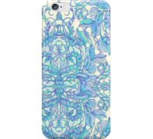 Lilac, Mint & Aqua Art Nouveau Pattern iPhone Case/Skin