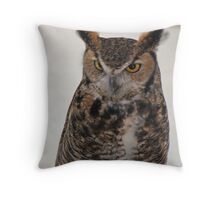 Horned Owl Throw Pillow