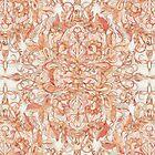 Autumn Peach Art Nouveau Pattern by micklyn