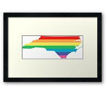 rainbow north carolina Framed Print