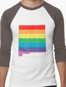 rainbow new mexico Men's Baseball ¾ T-Shirt
