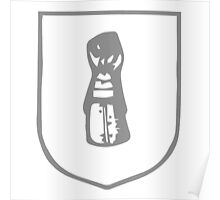 A Complete Guide to Heraldry - Figure 270 — A cubit arm in armour, the hand in a gauntlet Poster