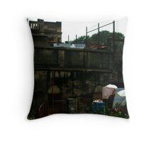 Facades of North Kolkata Throw Pillow