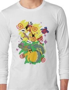 Funky Aliens (Toejam and Earl) Long Sleeve T-Shirt