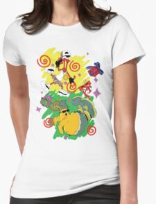 Funky Aliens (Toejam and Earl) Womens Fitted T-Shirt
