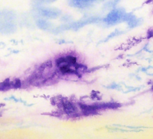 Purple Cloud Sky Sticker