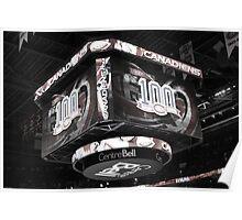 Canadiens 100 Season on the new scoreboad Poster