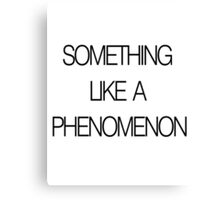 Something Like a Phenomenon Canvas Print