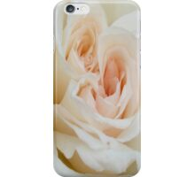 Close Up View Of A Romantic White Wedding Rose iPhone Case/Skin