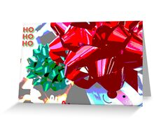 HO HO HO gift wrap Christmas design Greeting Card
