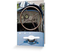 Bugatti Dashboard Greeting Card